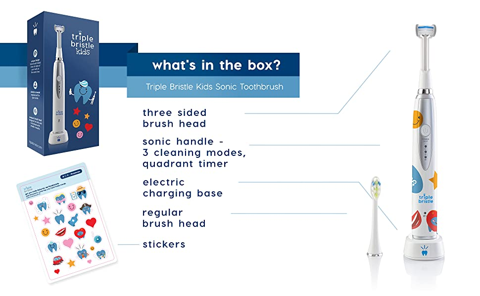 Triple Bristle Amazon Enhanced Content Image - Kids Whats In The Box