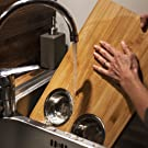Easy to clean bowls, hand wash bamboo cutting board