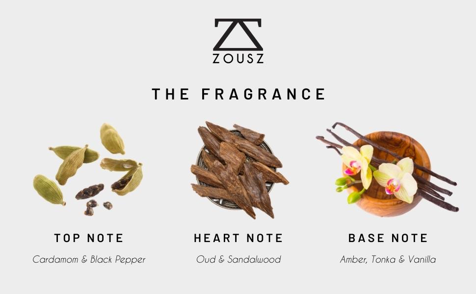 ZOUSZ Fragrance breakdown black oud beard oil 50ml 30ml beard oil for men oud oudh mens oil