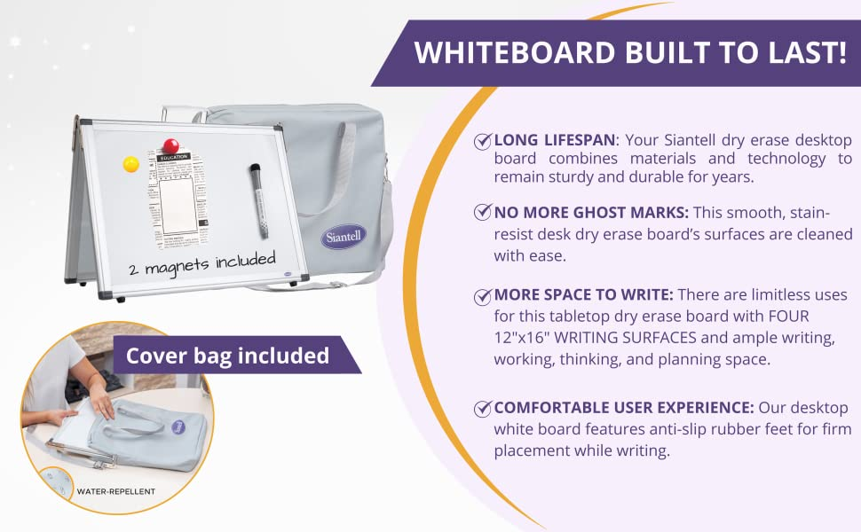 whiteboard for kids, foldable whiteboard, small dry erase white board for kids and teaching