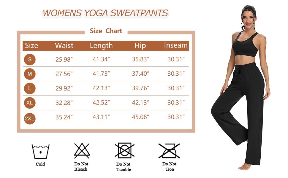 Wide leg Yoga Womens joggers Comfy Yoga pants Drawstring Joggers Pants for women Pants Workout