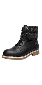 WOMEN ANKLE BOOTS WINTER FALL BOOTIES COMBAT LACE UP BOOT