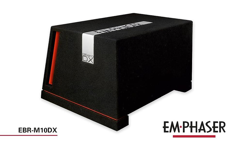 Emphaser EBR-M10DX: Bassreflex Gehäusesubwoofer fürs Auto
