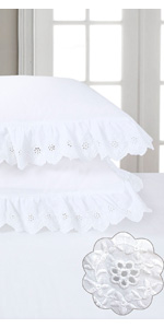 eyelet pillow shams