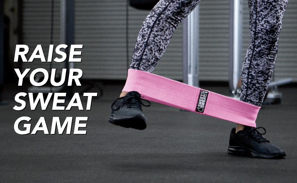 Sweet sweat hip bands workout equipment