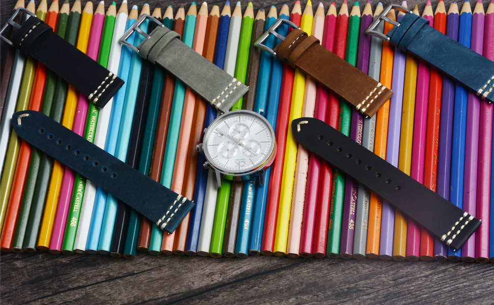 crazy horse leather watch bands