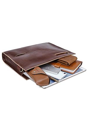YOGCI leather document bag