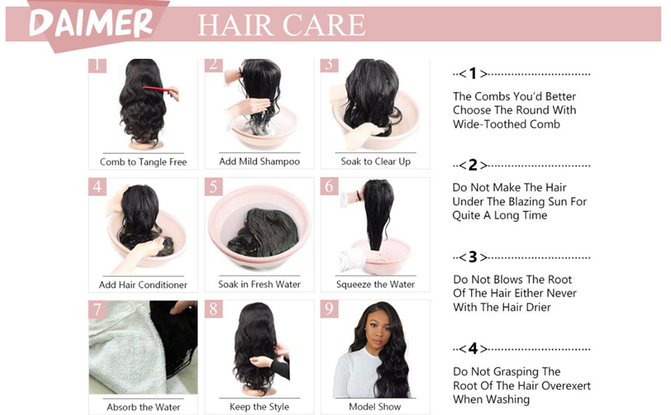 How to wash wig correctly