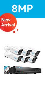 Reolink 4K Ultra HD 8-CH PoE Überwachungskamera Set, 8MP