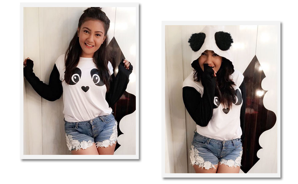 long sleeve panda hoodies