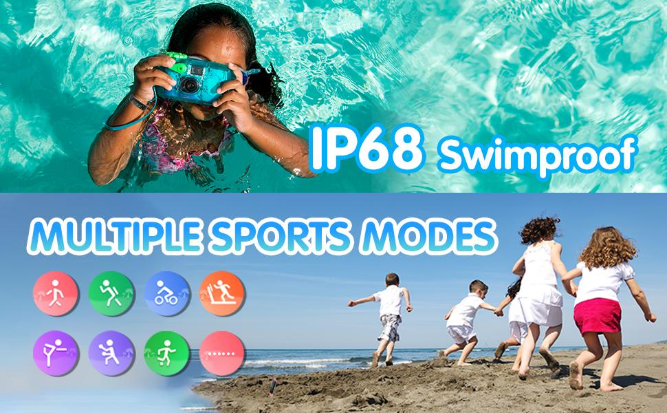 kids fitness tracker watch waterproof sports modes
