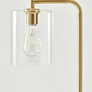 Brightech- Elizabeth Edison Floor Lamp for Living Room amp; Bedroom