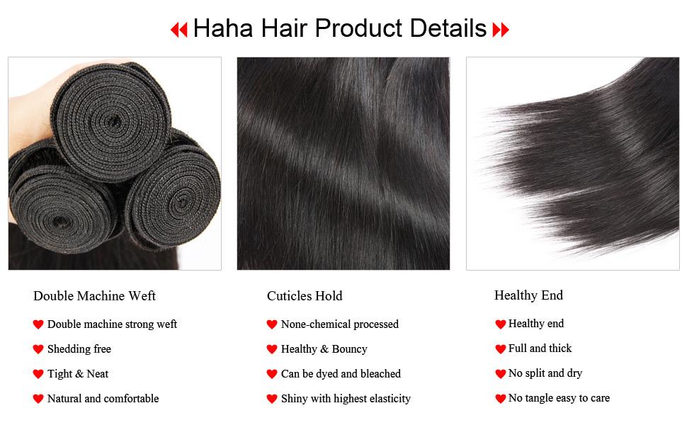 Brazilian Straight Human Hair Bundles Weave 8A Unprocessed Brazilian Hair 3 Bundles Natural Color