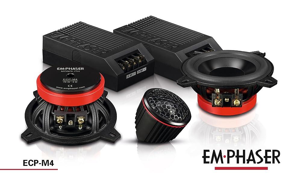 Emphaser ECP-M4: 10 cm 2-Wege Lautsprecher / Komponentensystem fürs Auto