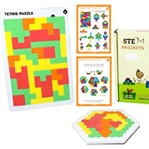 Tangram Puzzles for Kid & Adult - Montessori Brain Teasers Toys for Kids