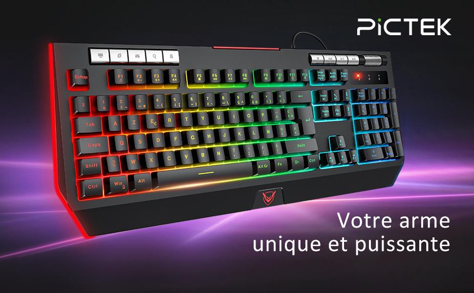 pictek clavier gamer