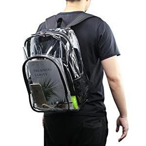 Clear Backpack with Adjustable Straps