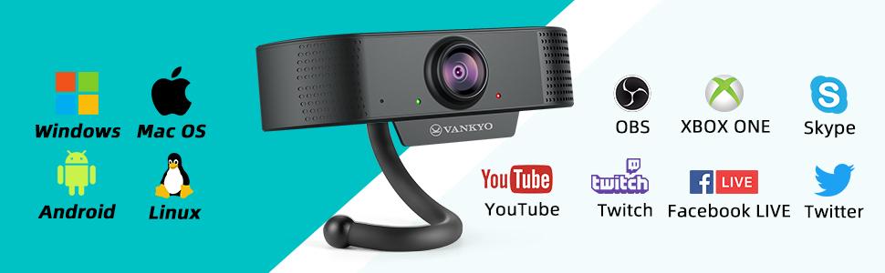 Webcam for PC Laptop Desktop
