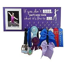 medal display picture hanger rack gymnastics sports gymnast gifts