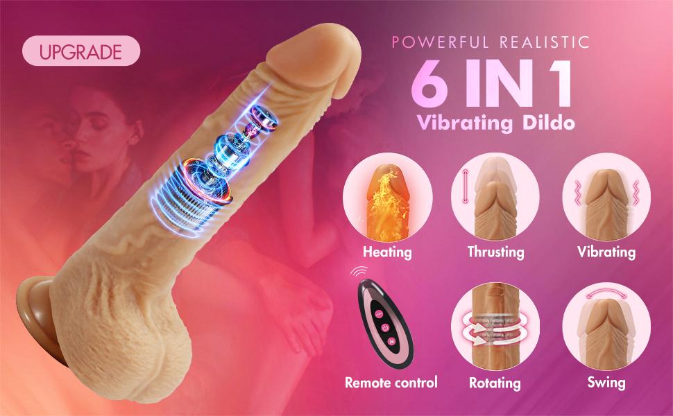 Thrusting Dildo Vibrator
