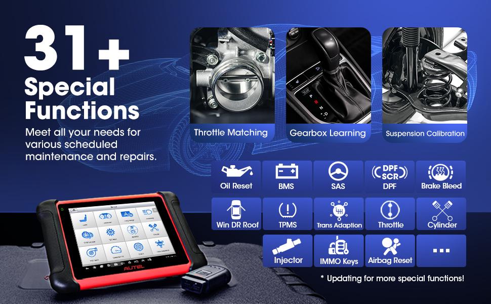 Amazon.com: Autel MaxiCOM MK906BT Automotive Scanner, New Version of  Maxisys MS906BT/MS908/MK908, OBD2 Scan Tool with ECU Coding, All System  Diagnostics, Bi-Directional Control, 31+ Services (2021 Newest): Automotive