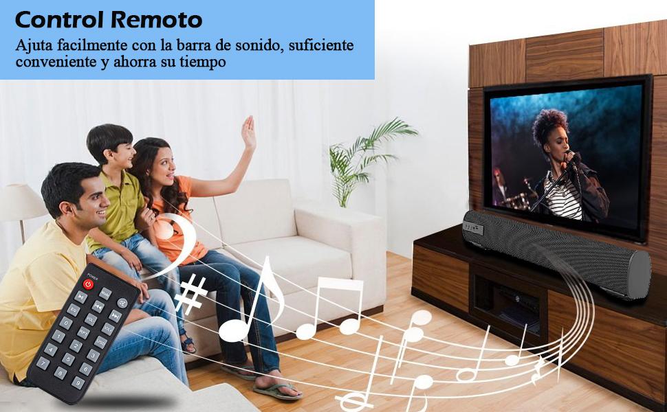 Barra de Sonido, QSPORTPEAK Altavoces PC Sobremesa 10W Bluetooth 5.0 Altavoz con Cable e Inalámbrico Altavoz Recargable estéreo con alimentación USB para TV/Smartphones/Ordenador por USB-DAC/USB/TF: Amazon.es: Electrónica