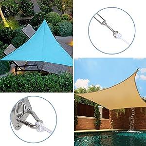 Hardware kit for triangle shade sail