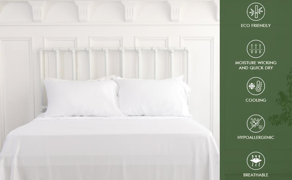 white bamboo sheets