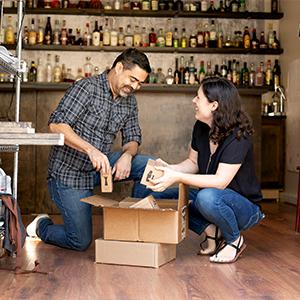 premium bar set, cocktail picks, home bar, family business, small business, female owned, garage bar