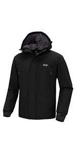 Amazon.com: Wantdo Mens Windproof Ski Fleece Jacket ...