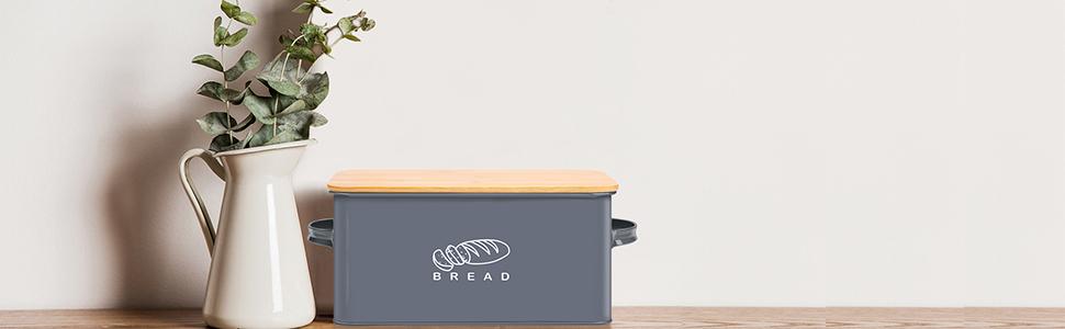 Bread Box for Kitchen Counter