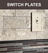 Single Toggle - Ivory Light Switch Cover Cast Stone Textured Decorative Outlet Cover Wall Plate