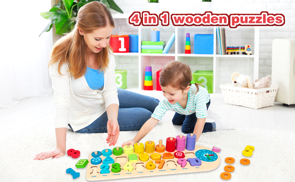 wooden montessori toy for toddlers