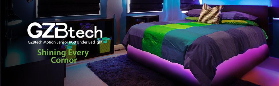 gzbtech motion sensor bed light