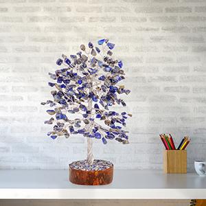 lapis lazuli gem tree fen shui crystals reiki crystal trees positive energy gifts home goods decor