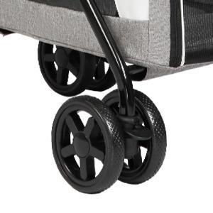 Rear locking wheels Shock-absorbent front wheels
