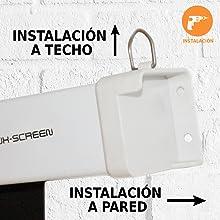instalacion a techo o a pared, pantalla de proyeccion electrica, pantalla para proyector, cine