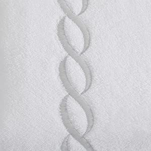 calla angel luxe chain egyptian cotton towel