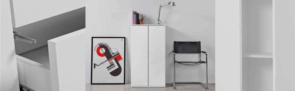 meuble de rangement, armoire, armoire de bureau, meuble multi-usages en plusieurs couleurs