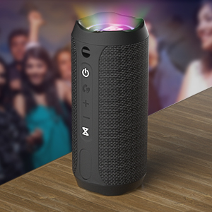 WSHDZ Portable 20w Waterproof Wireless Stereo Bluetooth Speakers J20 with Enhanced Bass Sound,Party Light,IPX67,HD Sound,Long Battery Life Support Hands-Free Call for Outdoor Indoor Activities-Black ab6e0486 e857 4769 82b3 5d30632a00d2