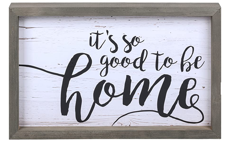Home is not a place its a feeling chic simplistic framed solid wood sign farmhouse sign home decor
