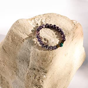Amethyst Bead Bracelets for Men and Women