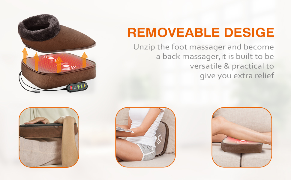 foot massager back massage heating pad with vibration massage for neck shoulder waist legs