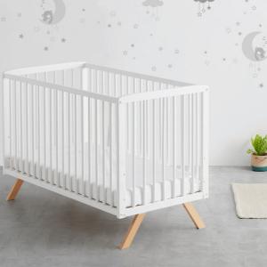 Cuna bebe Woody 120x60 3 alturas de somier + colchón HR