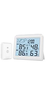 Innen Außen Thermometer Hygrometer mit Sensor