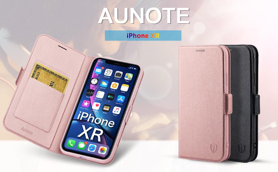 LOHHA11328 Bleu Housse en Cuir Portefeuille avec Porte Carte Fermeture par Rabat Aimant/é Anti Choc Etui de Protection pour Apple iPhone XR Lomogo Coque iPhone XR