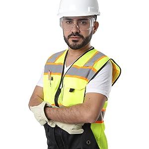 Kolossus workwear black safety vest