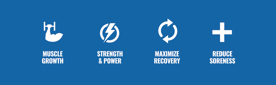 Muscle Growth, Strength & Power, Maximize Recovery, and Reduce Soreness