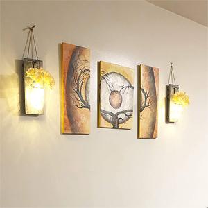 indoor lanterns wall lights for bedrooms flower lights rustic home accessories