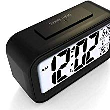 Digital Smart Backlight Battery Operated Alarm Table Clock with Automatic Sensor
